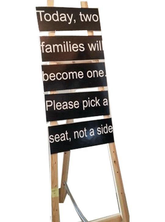 لوحة استقبال الضيوف
