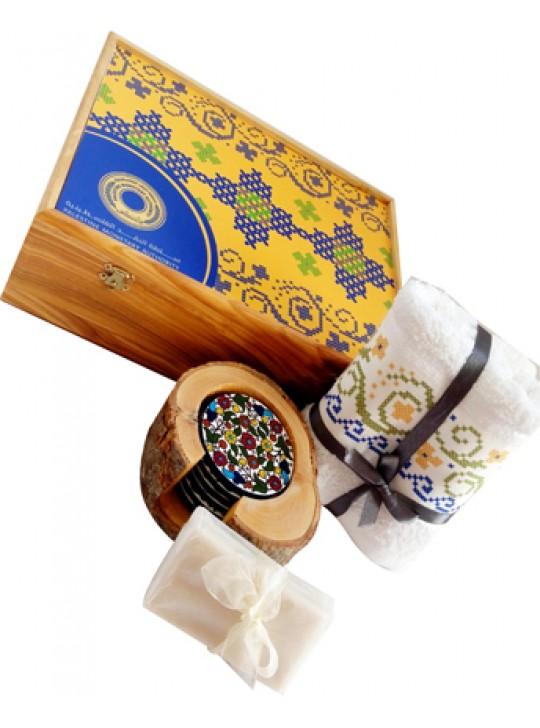 صندوق من خشب الزيتون بتصميم عصري