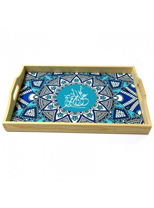 تصميم صينية للعيد باللون ازرق