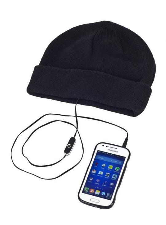 قبعة مع سماعات